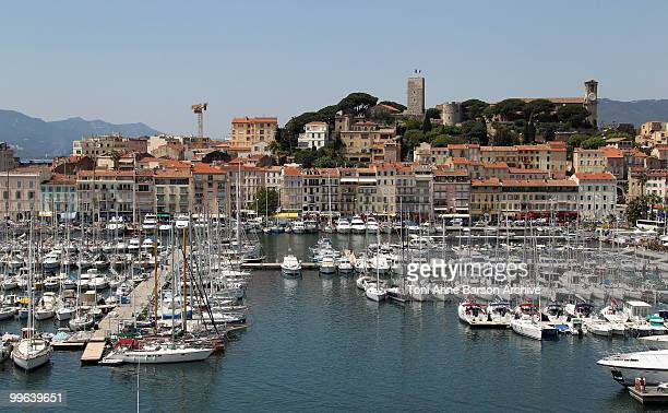 The french flag flies over the Musee de la Castre during 63rd Cannes Film Festival on May 17 2010 in Cannes France