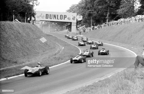 The French Grand Prix Rouenles Essarts July 7 1957 The Start Jean Behra has obviously jumped the fall of the flag and has a big but temporary lead...