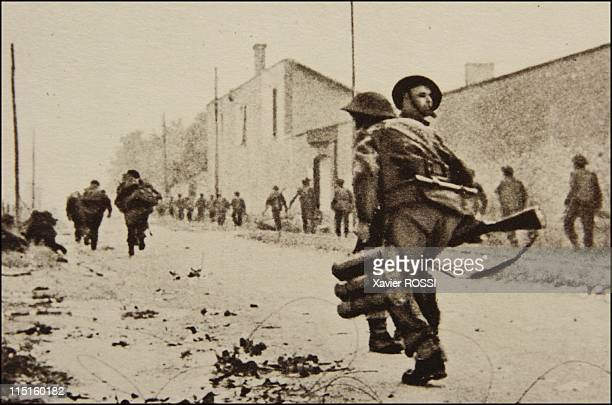 The French heroes of D-Day in Quistreham, France on June 06, 1944 - Hubert Faure, veteran of the French Commando Kieffer. June 6 7:50. The commando...