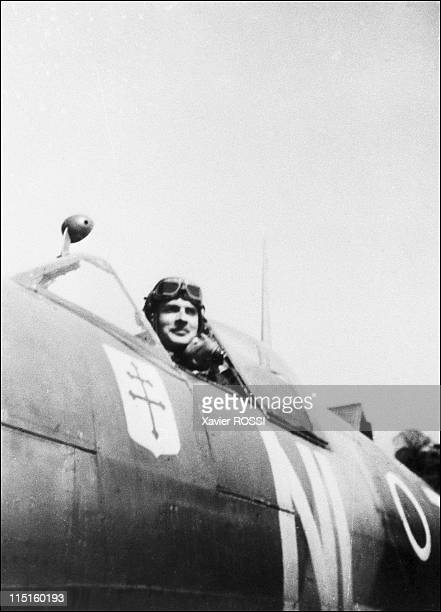 The French heroes of DDay in United Kigndom in 1943 Claude RaoulDuval French Spitfire pilot in Great Britain and Hurricane pilot in Lybia Spitfire IX...