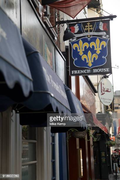 The French House pub in Soho London United Kingdom Situated on Dean Street the French House was one of the infamous hangous for artists in Soho