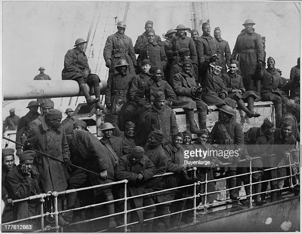 The French liner La France arrives with gallant 15th Infantry Negro fighters who won honors in France