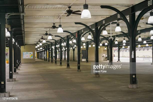 The French Market in the French Quarter of New Orleans is deserted after being closed amid restrictions in place to help deal with the Covid19...
