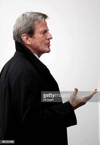 The French Minister of Foreign and European Affairs Bernard Kouchner arrives to attend the Afghanistan London Conference at Lancaster House on...