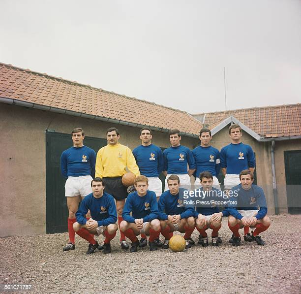 The French national football team posed together for a group photograph prior to their fixture with Italy at Parc Des Princes stadium in Paris France...