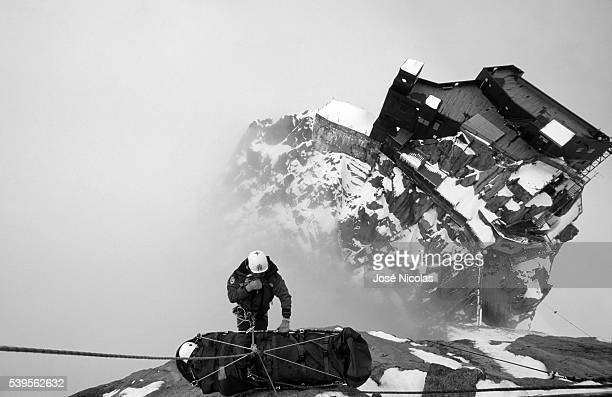 The French National Gendarmerie mountain rescue unit PGHM is in charge of high mountain rescuing often by helicopter