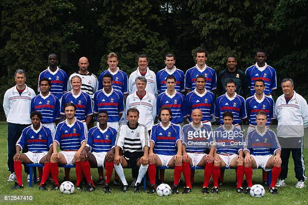 The French national team for the 1998 FIFA World Cup Bernard Diomede Christophe Dugarry Marcel Desailly Lionel Charbonnier Alain Boghossian Franck...
