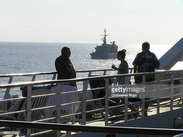 CONTENT] The French Navy Floreal Class small patrol frigate F732 The Nivose from on board the Seabourn Spirit This was taken while The Nivose was...
