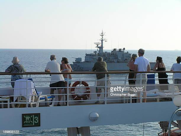 CONTENT] The French Navy Floreal Class small patrol frigate F732 The Nivose from on board the Seabourn Spirit This image was taken while the Nivose...