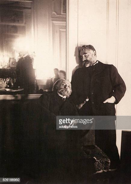 The French painter Auguste Renoir and the French poet St��phane Mallarm�� On December 16 1895
