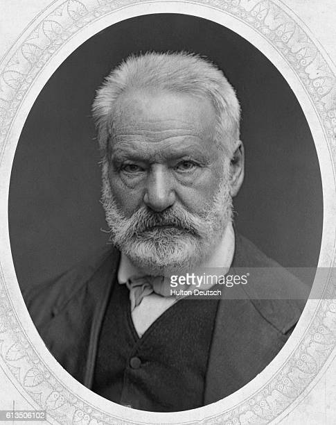 The French poet and writer Victor Marie Hugo the leader of the French Romantic school whose novels include The Hunchback of Notre Dame and Les...