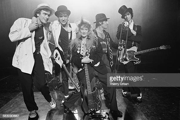 The French popular band Telephone with trombonist and actor Gerard Lanvin on the musical show Cotton Club From left to right From left to right...