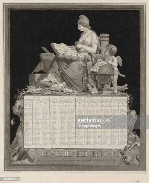 The French Republican Calendar 1794 Found in the Collection of Bibliothèque Nationale de France