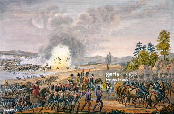 The French retreat after the Battle of Leipzig, Germany, 19th October 1813. The Battle of the Nations in 1813 was one of the most decisive defeats...