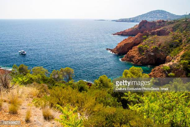 The French Riviera between Saint Tropez and Cannes, Antibes, Provence-Alpes-Cote dAzur, France, Europe