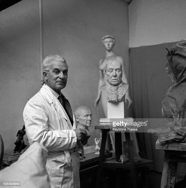 The French sculptor Paul BELMONDO father of the famous actor JeanPaul BELMONDO A professor at Paris fine arts school and new president of the Academy...