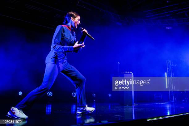 The french singer and songwriter Jain performing live at Fabrique Club on December 8 2018 in Milan Italy
