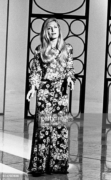 The French singer Dalida Madrid, Spain. .