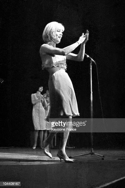 The French singer Sylvie VARTAN at the Olympia
