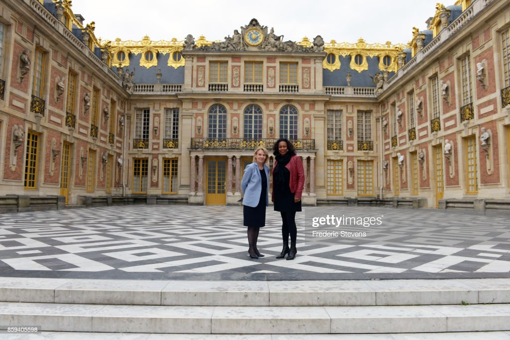 French Sports Minister Visits 2024 Paris Olympics Games Horse Show Competitions Venue At Chateau de Versailles