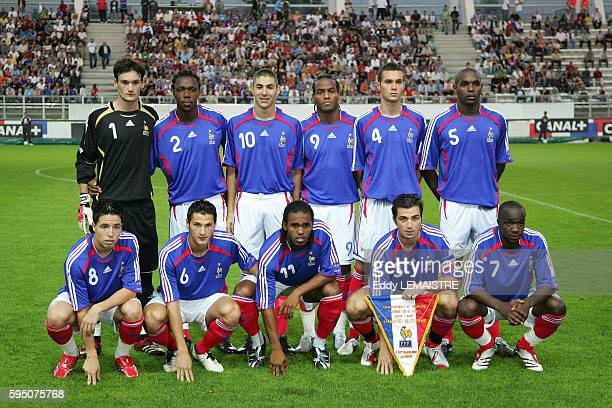 The French team before the qualifying match for the UEFA European Under21 Championship between France and Slovenia