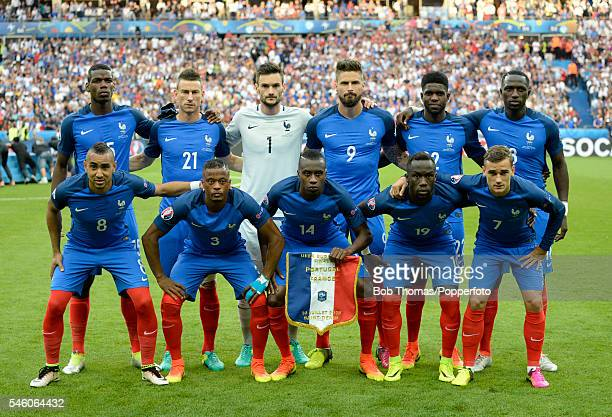 The French team pose for a group before the UEFA EURO 2016 Final match between Portugal and France at Stade de France on July 10 2016 in Paris France...