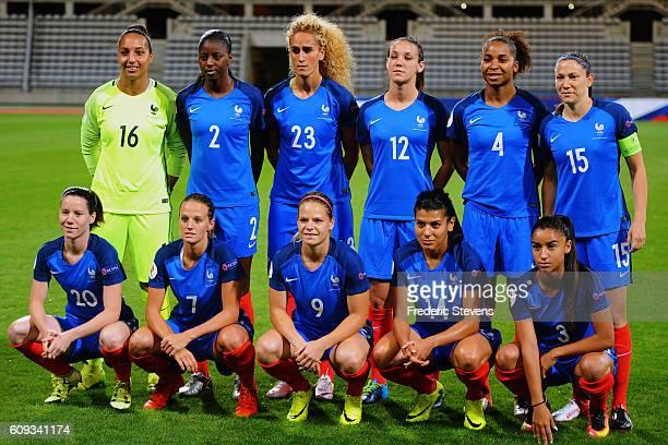 The French team Sarah Bouhaddi Aissatou Tounkara Kheira Hamraoui Clarisse Le Bihan Laura Georges Elise Bussaglia captain Anaig Butel Sandie Toletti...
