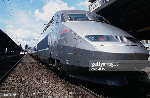 The french TGV train in Nantes railway station2000