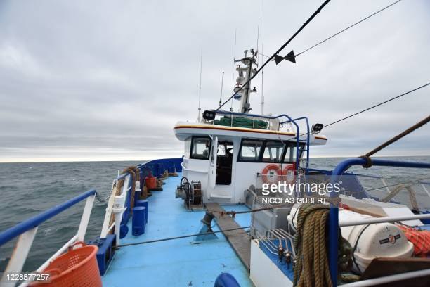 The French trawler Le Marmouset III leaves the harbour of BoulognesurMer towards British waters in the English Channel to fish mainly cuttlefish...