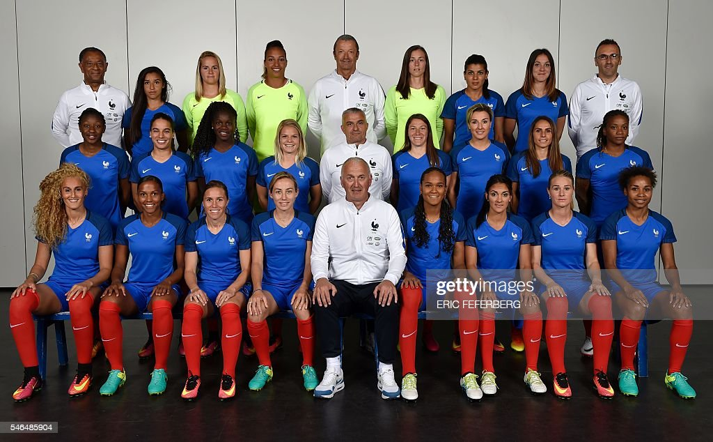 The French women's national football team for the 2016 ...