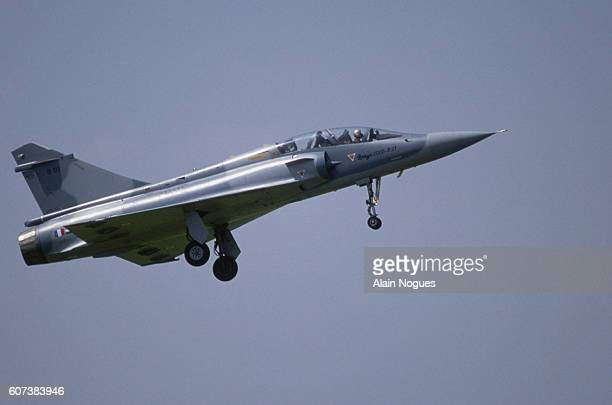 The Frenchbuilt Dassault Aviation Mirage 2000 a multirole deltawing combat fighter in flight