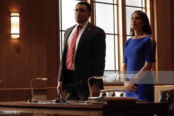 """The Fribourg Confidence """" Episode 805 -- Pictured: Harry Lennix as Harold Cooper, Stephanie Janssen as Ausa Navarro --"""