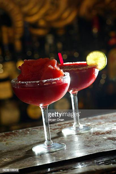 The Frida Margarita frozen left and on the rocks for What I'm Drinking Frida Margarita Named for the late Mexican artist recently portrayed on the...