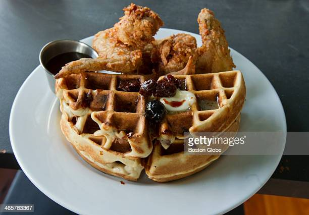 The fried chicken and waffles at M3 in Davis Square on Friday June 29 2012
