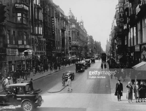 The Friedrichstrasse in Berlin Germany circa 1925