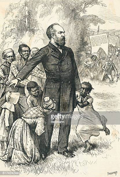 """The Friend Of The Freedmen. """"Now, that we have made them free, we will stand by these black allies! We will stand by them until the sun of liberty..."""
