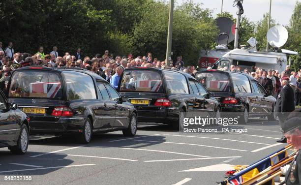 The Friends and families of Guardsman Craig Roderick and Guardsman Apete Saunikalou Ratumaiyale Tuisovurua of the 1st Battalion the Welsh Guards and...