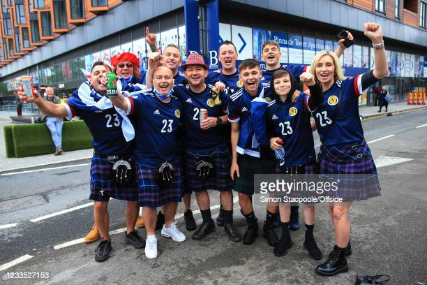 The friends and family of Billy Gilmour including his dad and mum ahead of the UEFA Euro 2020 Championship Group D match between England and Scotland...
