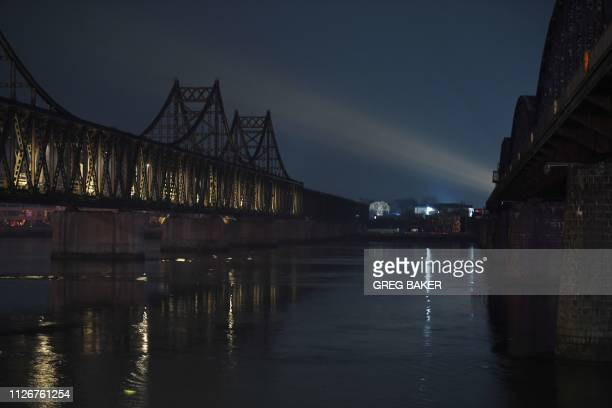 The Friendship Bridge , which spans the Yalu River between China and North Korea, is seen from the Chinese city of Dandong, in China's northeast...