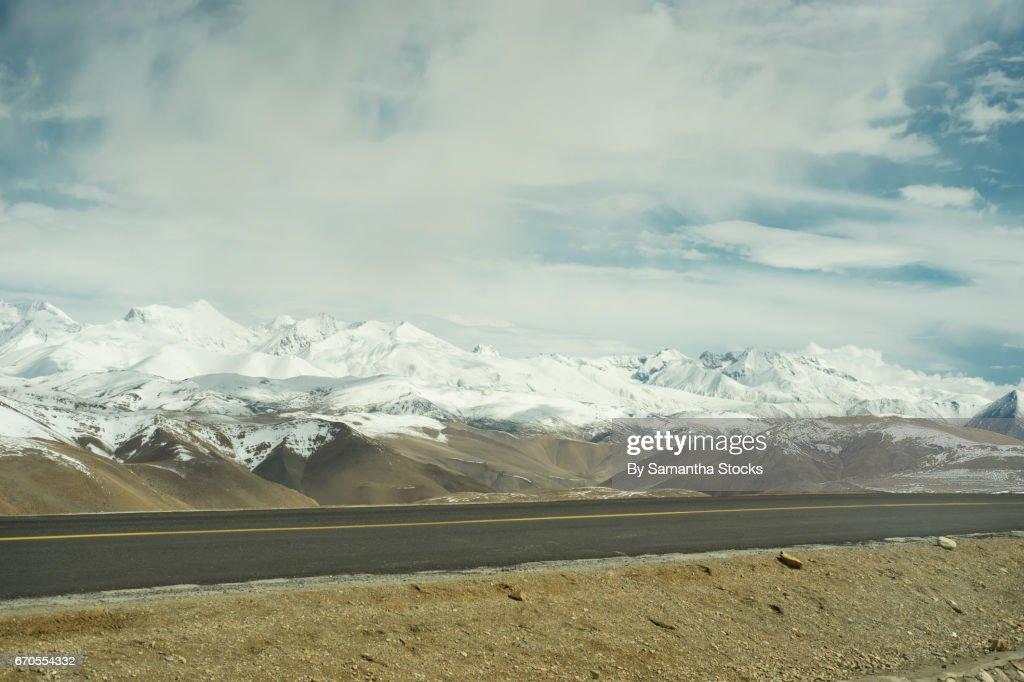 The Friendship Highway, Tibet : Stock Photo