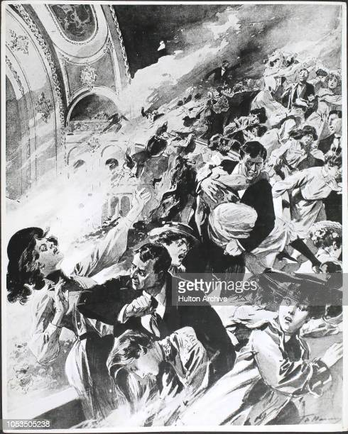 The frightful scene in the balcony of the Iroquois theatre during the Chicago Fire The greatest loss of life occurred in the balconies Only those who...