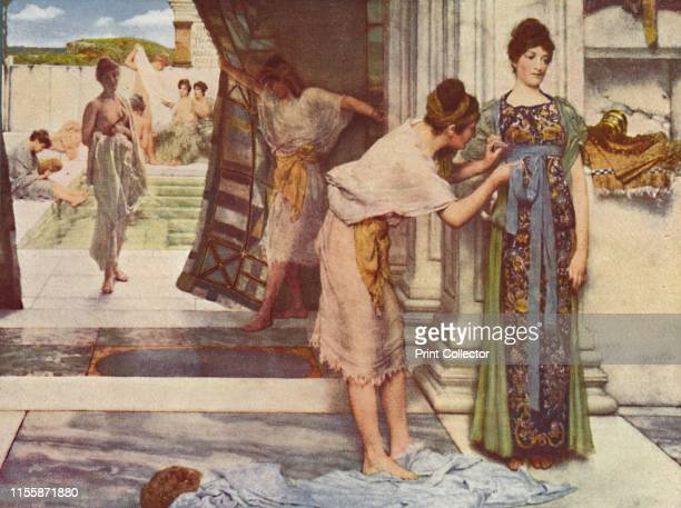 The Frigidarium' 1890 Scene in Roman baths From Modern Art Monographs Artist Sir Lawrence AlmaTadema