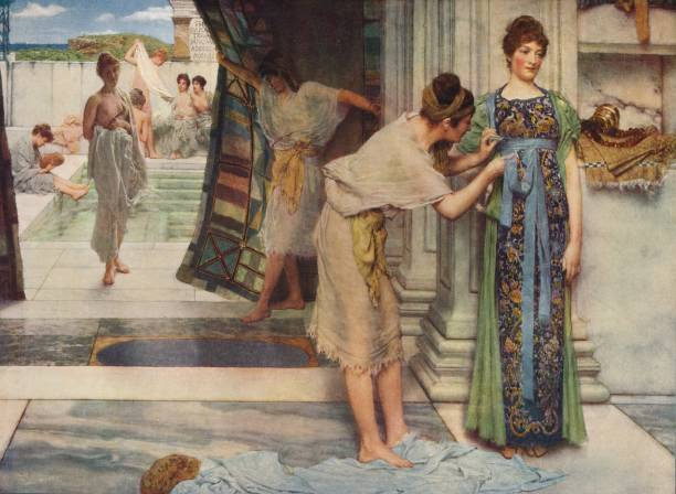 The Frigidarium' . From International Art: Past and Present by Alfred Yockney. [Virtue & Company, London, circa 1915]. Artist Sir Lawrence...