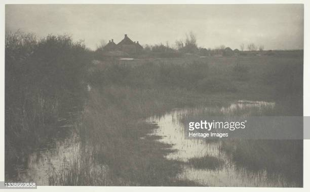 The Fringe of the Marsh, 1886. A work made of platinum print, pl. Xxxix from the album 'life and landscape on the norfolk broads' ; edition of 200....
