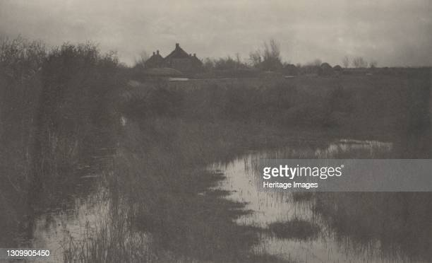 The Fringe of the Marsh, 1886. Artist Dr Peter Henry Emerson, Thomas Frederick Goodall. .