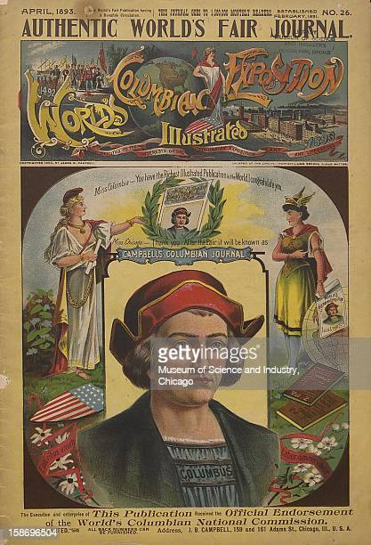 The front cover of the April 'Authentic World's Fair Journal' published to promote the World's Columbian Exposition in Chicago Illinois