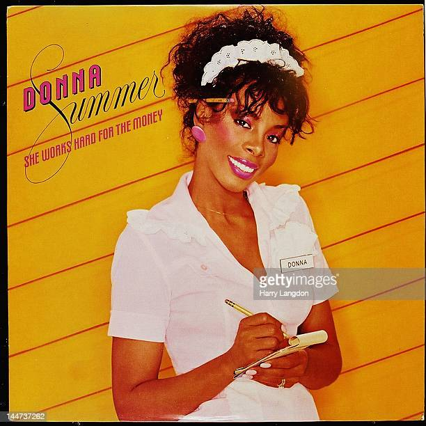 The front cover of the Donna Summer album 'She Works Hard for the Money' released in 1983