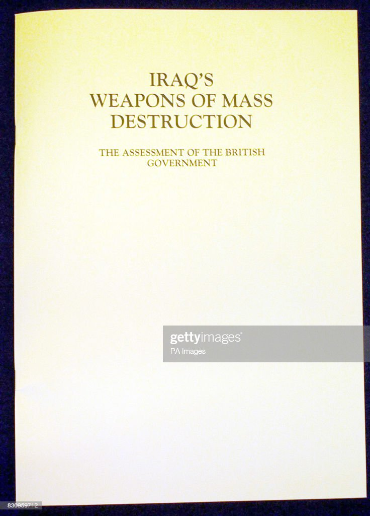 the front cover of the report published by the british government