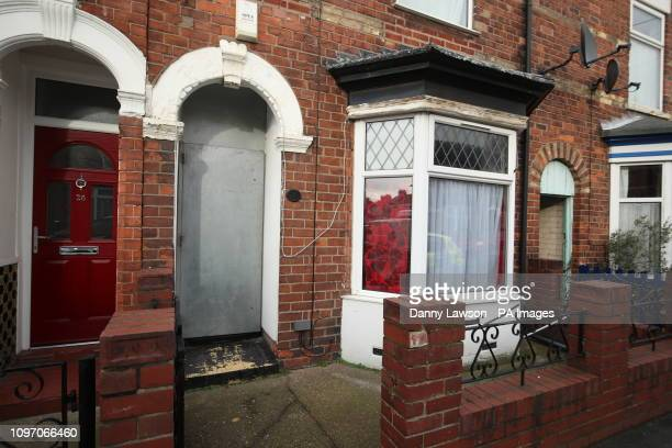 The front door is boarded up on a property on Raglan Street in Hull which was searched this morning in connection with the disappearance of 21yearold...