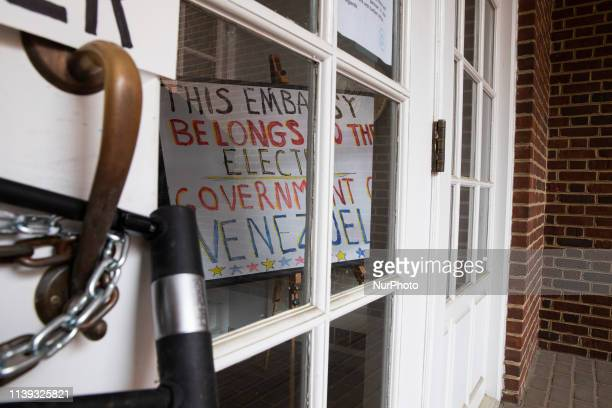 The front door of the Embassy was locked by the US activist in order to prevent its seizure by officials loyal to the USbacked opposition leader Juan...